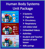 Human Body Systems Unit Package - Circulatory, Digestive and Respiratory Systems