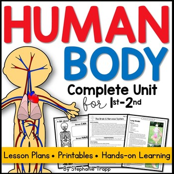 Human Body Unit For First And Second Grade By Stephanie Trapp Tpt