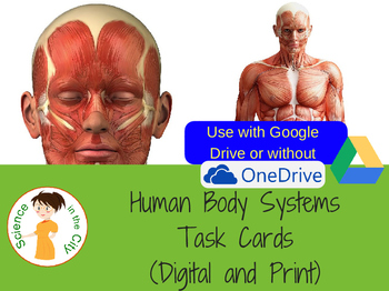 Human Body Systems Bell Ringer or Exit Ticket Digital Task Card Set