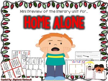 Home Alone Literary Unit Sampler FREEBIE
