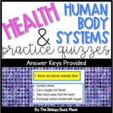17 Human Body Systems and Health Quizzes-GREAT for a Class