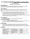 Human Body Systems and Interactions Game Puzzle with Worksheet
