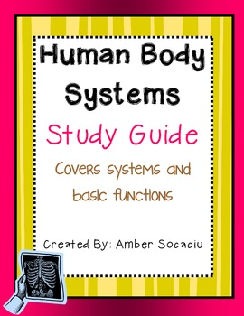 Human Body Sytems Study Guide Freebie
