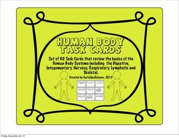 Human Body Task Cards