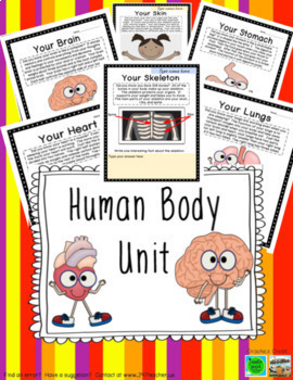 Human Body Unit Foldables Writing Vocabulary Scientists And More