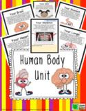 Human Body Unit Google Slides™ Digital Learning Writing, F