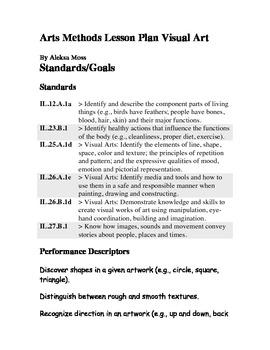 Human Body Visual Arts Lesson Plan