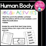 Human Body Vocabulary Activities