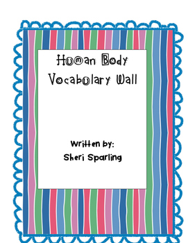 Human Body Vocabulary Wall Cards