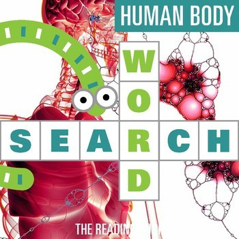 Human Body Systems Word Search Puzzle - 3 Levels Differentiated
