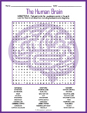 Human Brain Word Search Puzzle