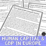 Human Capital Goods & GDP Reading & Writing Activity (SS6E