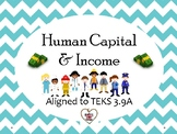 Human Capital and Income Lesson with Two Simulations