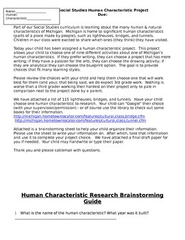 Human Characteristic Project - Michigan