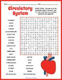 Human Circulatory System Word Search Worksheet