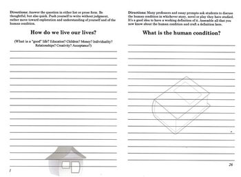 Human Condition Journal (quick writes, English prompts and writing)