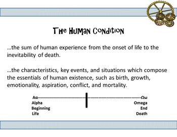 Human Condition Literature Power Point and Interactive Resources