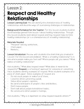 {Grade 3} Human Development and Sexual Health Activity Packet