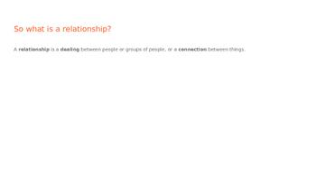 Human Dynamics, Family Studies, Relationships
