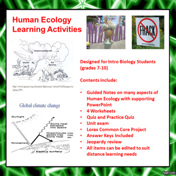 Human Ecology Learning Activities
