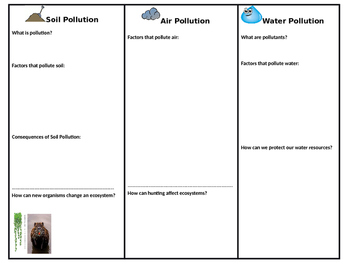 Human Effects on Ecosystems Trifold