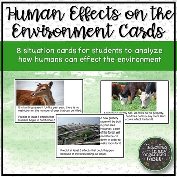 Human Effects on the Environment Situation Cards