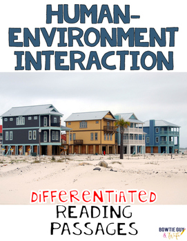 Human Environment Interaction Geography Nonfiction Differentiated Reading Texts