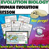 Human Evolution Lesson- Biology Science Notebook