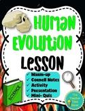 Human Evolution Printable Lesson   Biology Science Unit