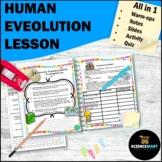 Human Evolution Lesson   Middle School Biology