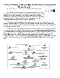 Human Evolution Measurement Activity