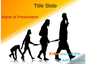 Human Evolution PPT Template