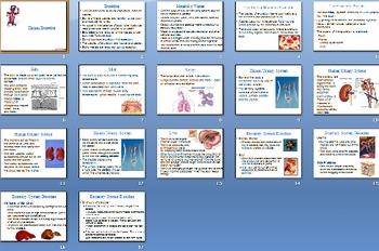 Human Excretion Smartboard Notebook Presentation Lesson Plan