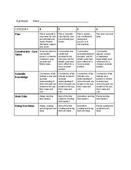 Model Rubric Worksheets Teachers Pay Teachers