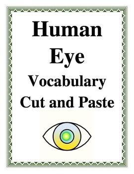 HUMAN EYE VOCABULARY