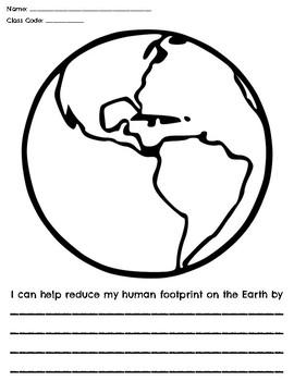 Earth Day/Human Footprint Worksheet