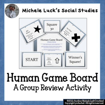 Human Game Board Class Activity Floor or Wall Squares