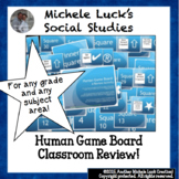 Human Game Board Class Activity Floor Squares Blue & White
