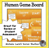 Human Game Board Class Activity Floor or Wall Squares in Yellow!
