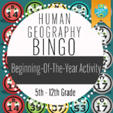 Human Geography Bingo: A Beginning of the Year Activity