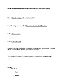 Human Geography Guided Notes - Chapter 1