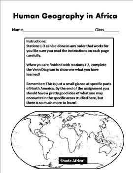 Human Geography of Africa Activities