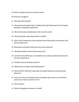 Human Geography of Canada Study Guide