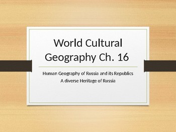 Human Geography of Russia and its Republics