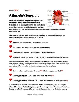 Human Heart & Circulatory System - Bundled Unit in WORD