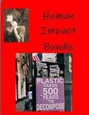 Human Impact Bundle Informational texts, hyperlinks and gu