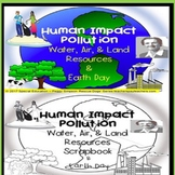 Human Impact Land, Water, Air & Earth Day Quiz & Scrapbook SPED/ED/ID/Autism/ESL