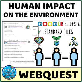 Human Population Impacts On The Environment WebQuest Virtual Interactive Lesson