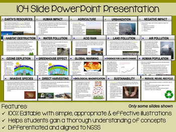 Human Impact PowerPoint, Notes & Exam (Differentiated and Editable)