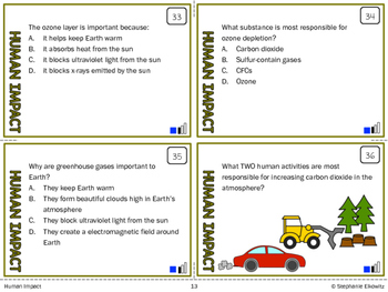 Human Impact Task Cards (Differentiated and Tiered)